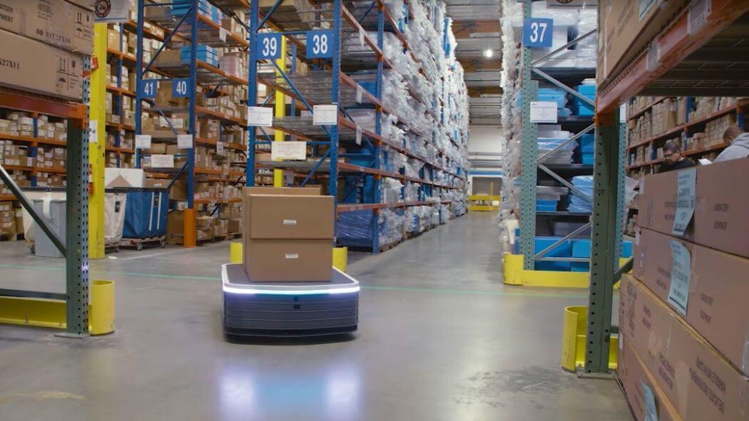 autonomous system in warehouse