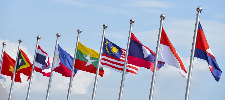 ASEAN Flags reflex contries we do logistics service.